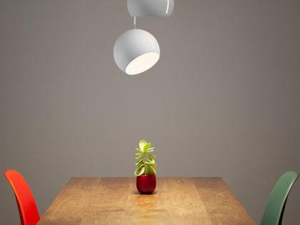 Designerleuchten mit variablem Lampenschirm