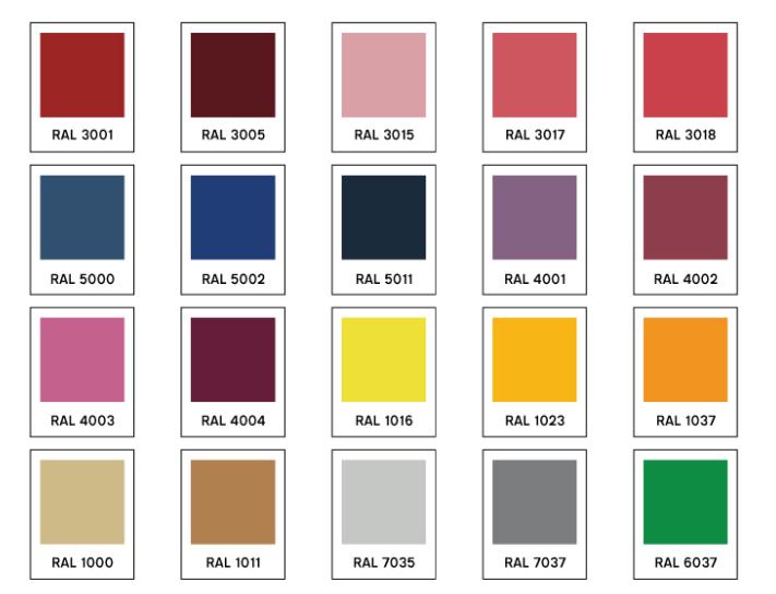 Sonderfarben Foundry nach RAL Innermost Designort