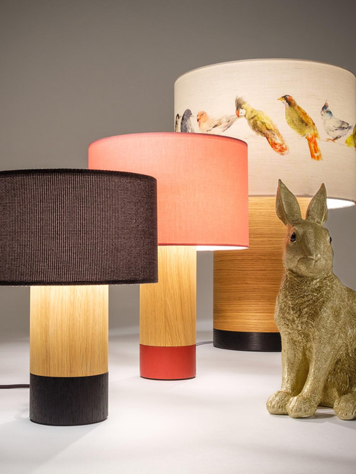 DesignOrt Lampenblog - Tischlampen mit Textilschirm Klippa Leuchten von Domus Licht