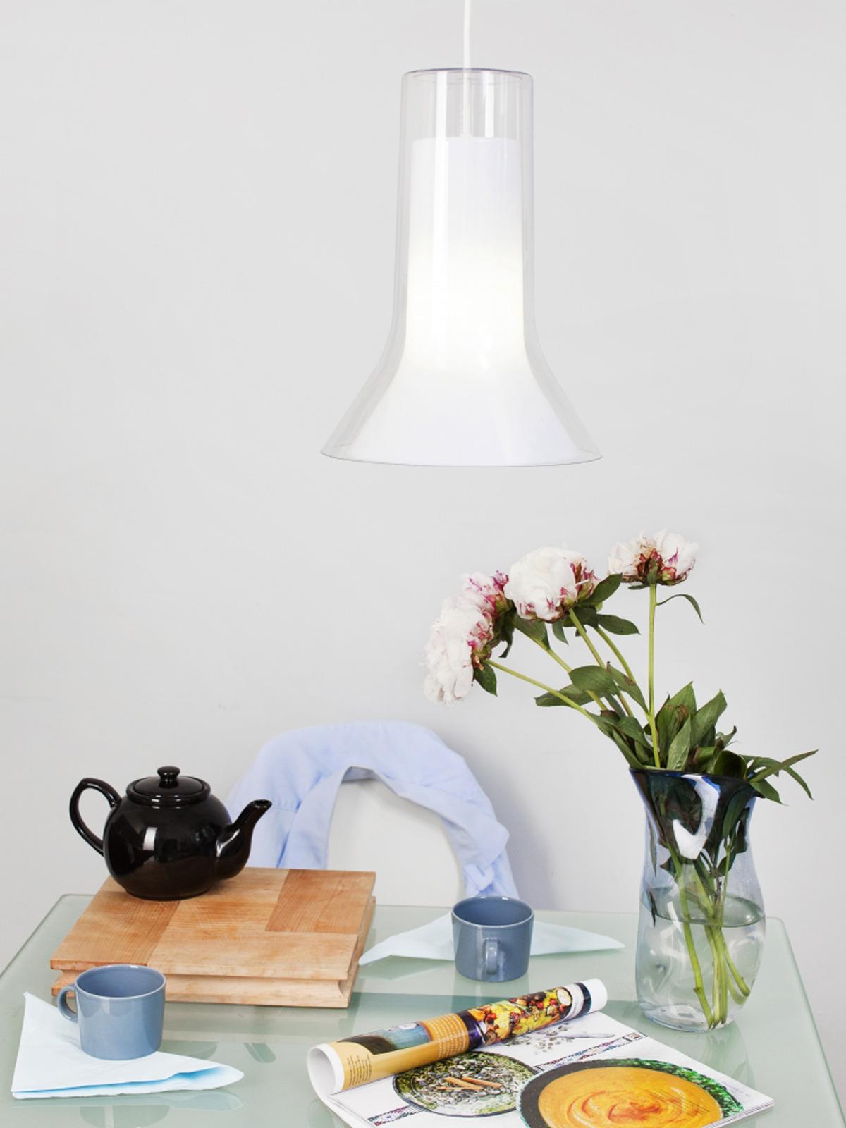 DesignOrt Lampen Blog: Esstischleuchten Vaasi von Innolux aus Acryl