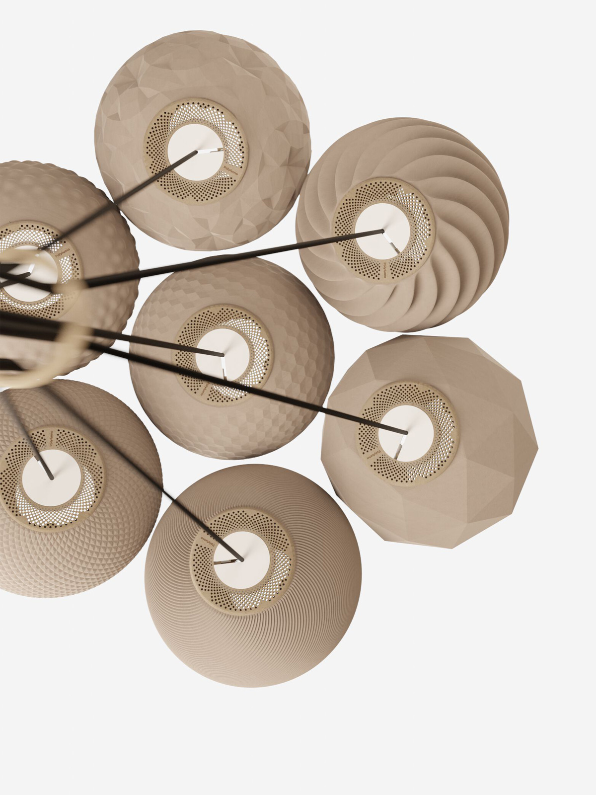 Polyluma Cluster Leuchten nachhaltiges Design aus Berlin DesignOrt Lampen Leuchten