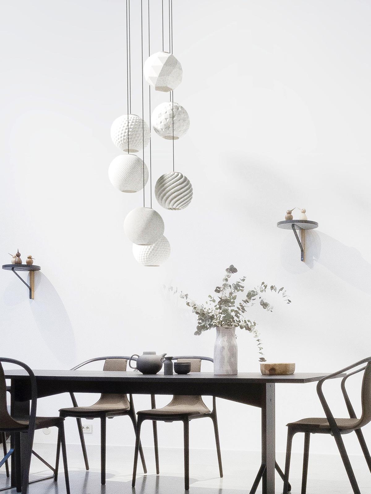 Polyluma Random 7 Pendelleuchte nachhaltig Design Berlin DesignOrt Onlineshop Lampenladen