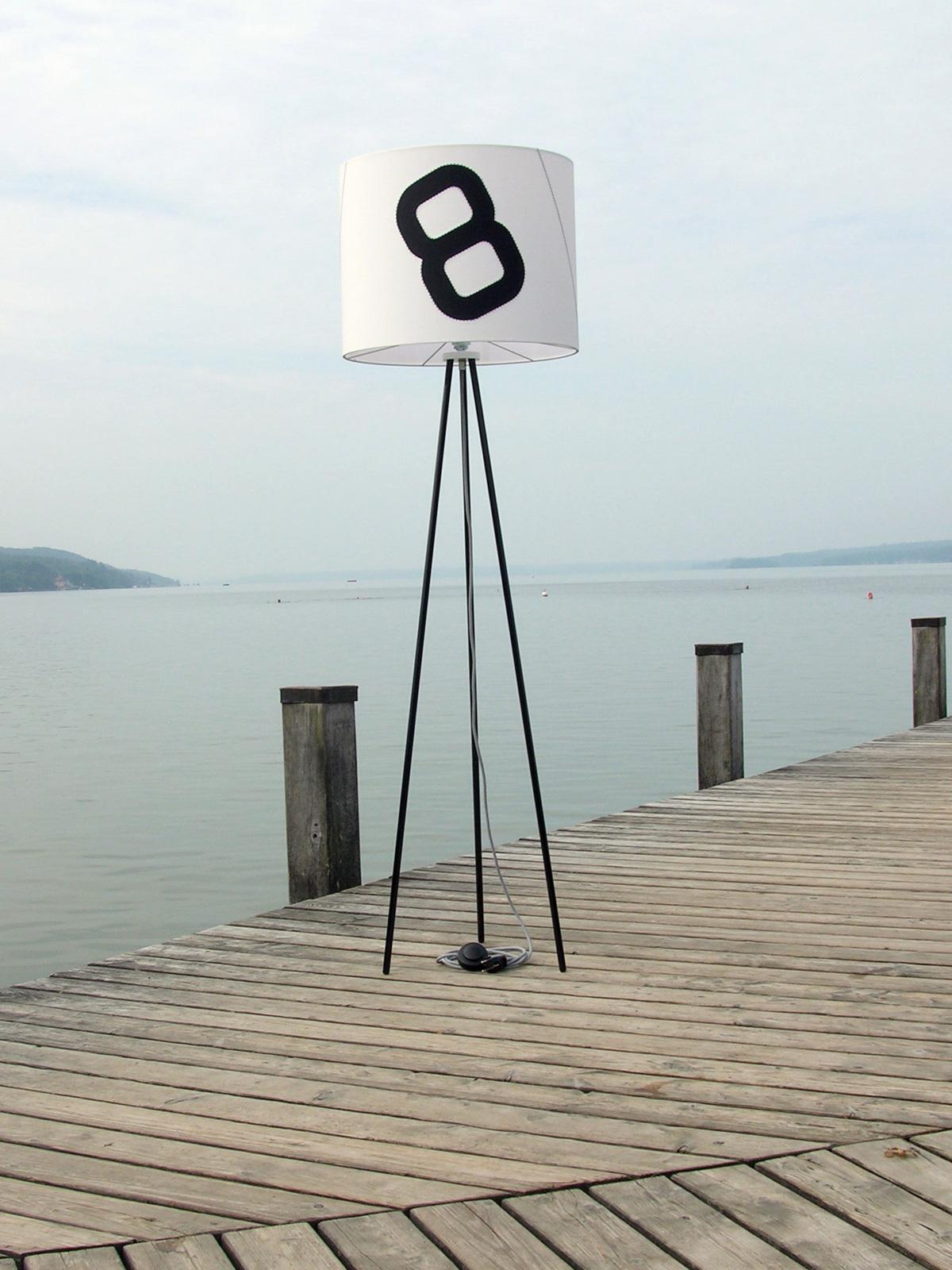 Lumbono Heimathafen Tripod Dreibein Stehleuchte maritim DesignOrt Onlineshop Lampen Berlin