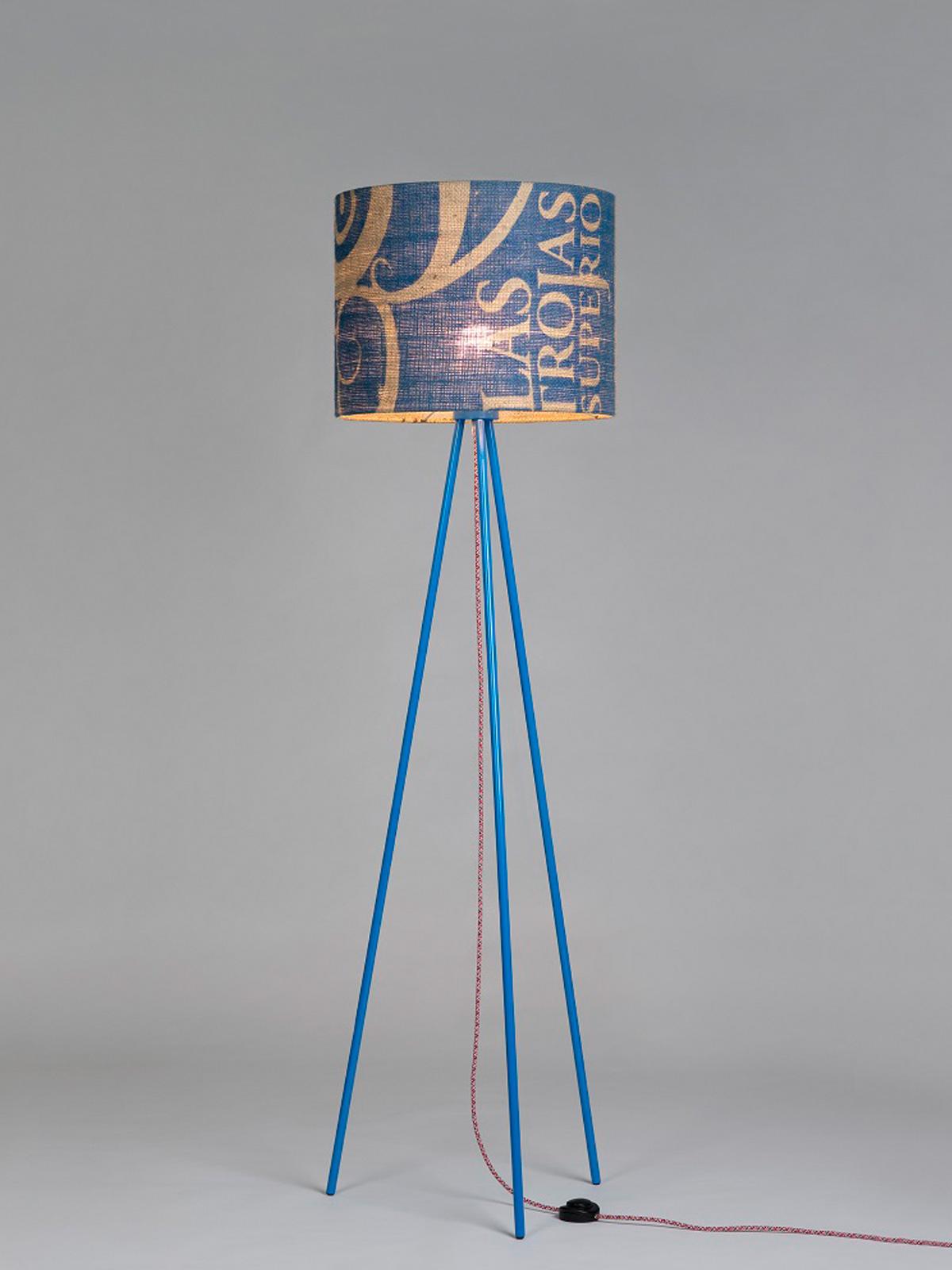 Perlbohne Stehleuchte Kaffeesack lumbono DesignOrt Onlineshop Lampen