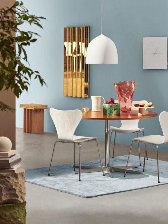 Suspence Pendelleuchte Weiß und Kupfer DesignOrt Onlineshop Lampen Berlin