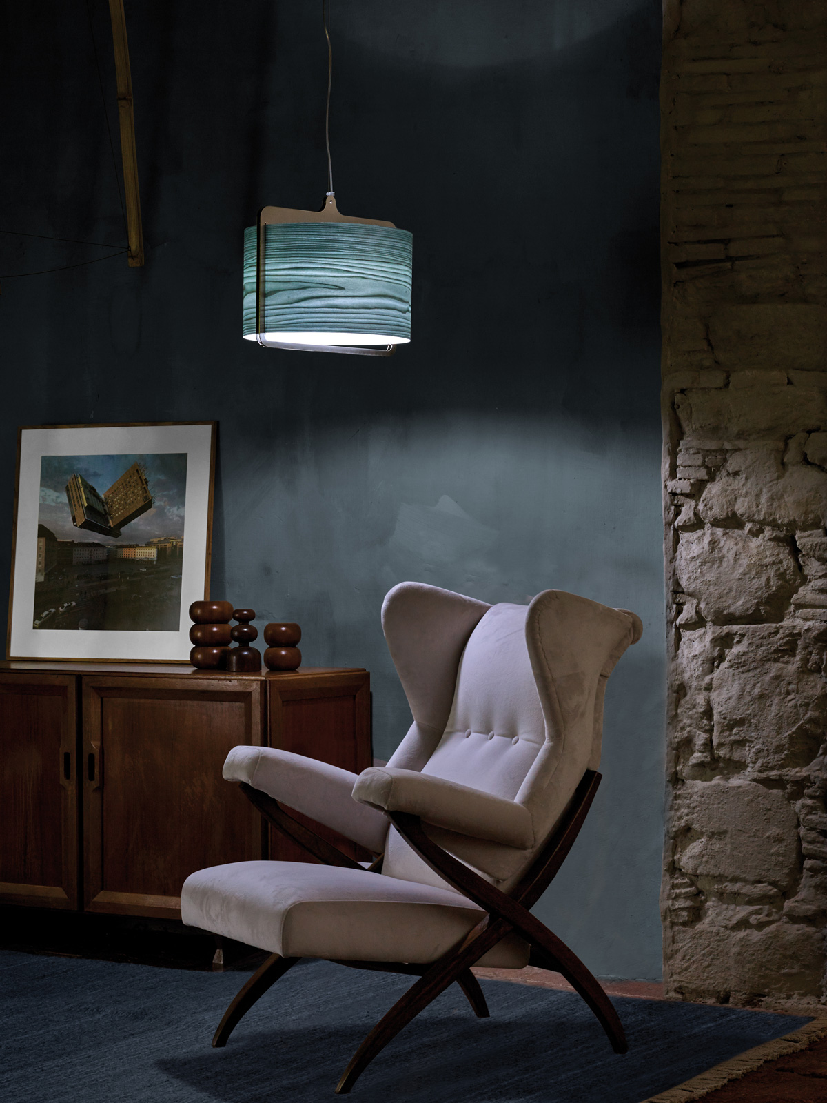 DesignOrt Blog: Materialmix bei LZF Lamps Icon Pendelleuchte