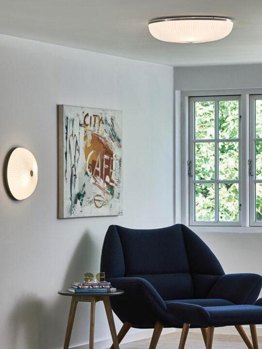 Lamella Wand und Decke Le Klint Leuchte Designort