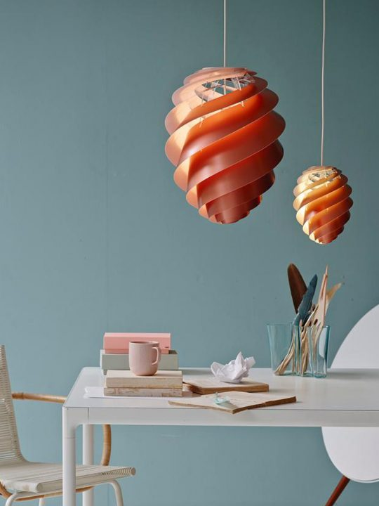 Le Klint Swirl 2 Kupfer Pendelleuchte DesignOrt Lampen Onlineshop Berlin