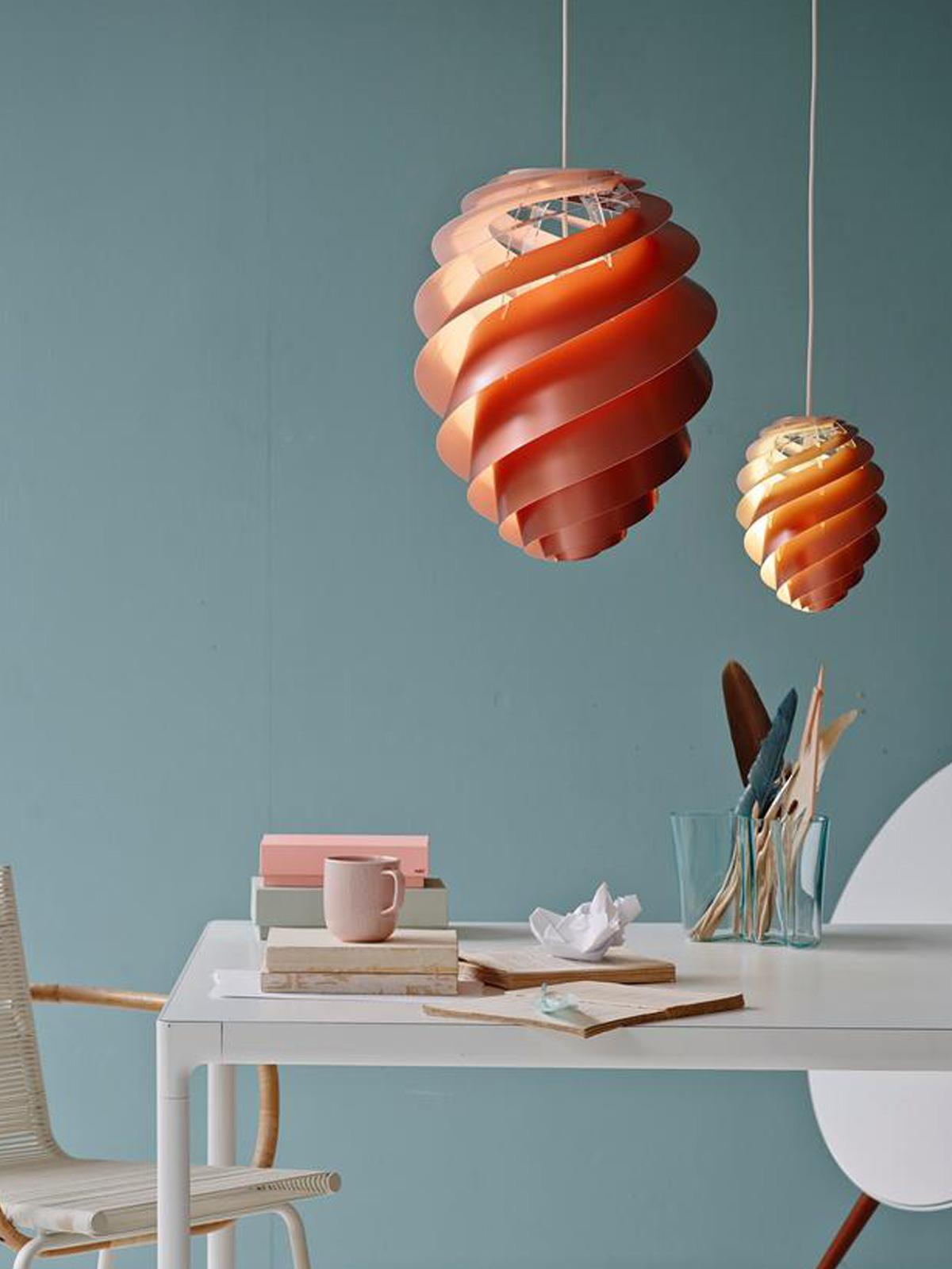 DesignOrt Blog: große Lampen & Leuchten für die Gastronomie Swirl 2 Kupfer Le Klint