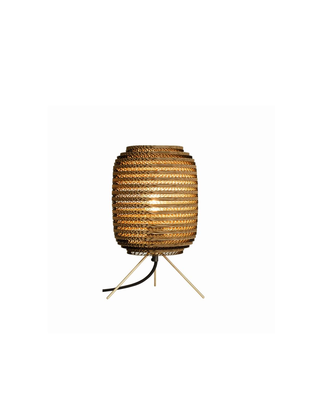 Ausi Table Lamp Natur DesignOrt Lampen Berlin Graypants Pappleuchte