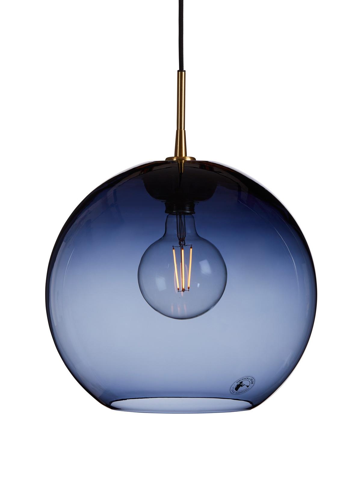 Gloria Blau Belid Glasleuchte Designort