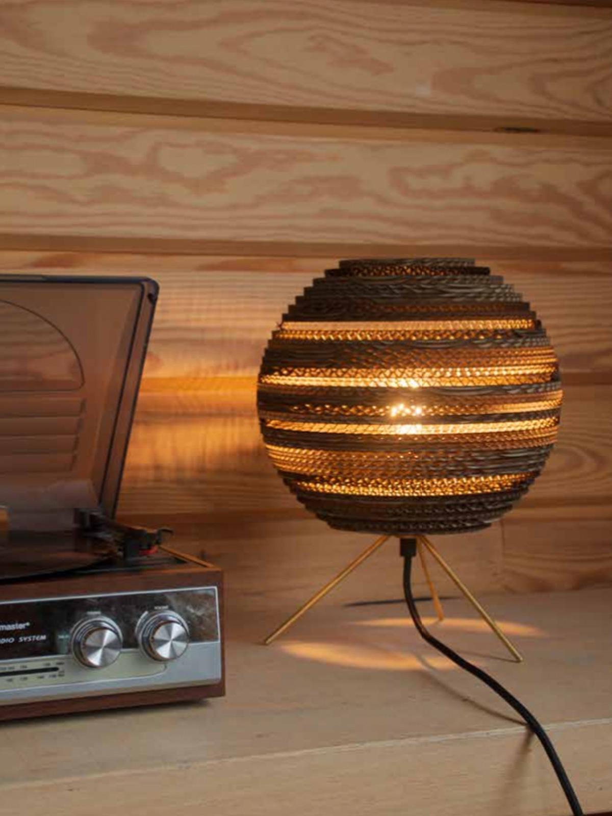 DesignOrt: Blog Tischleuchten Moon Table Natur Tischlampe Graypants Pappe Designort Lampen Berlin