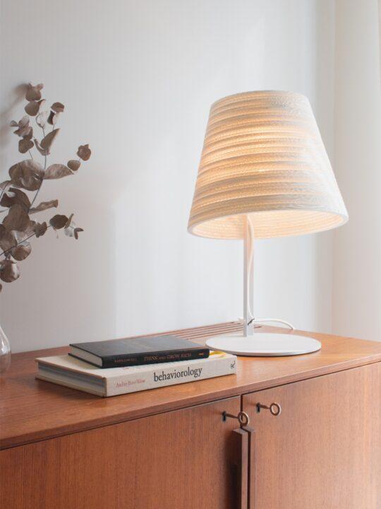 SCRAPLIGHTS tilt white Graypants Pappleuchte DesignOrt Lampen Berlin