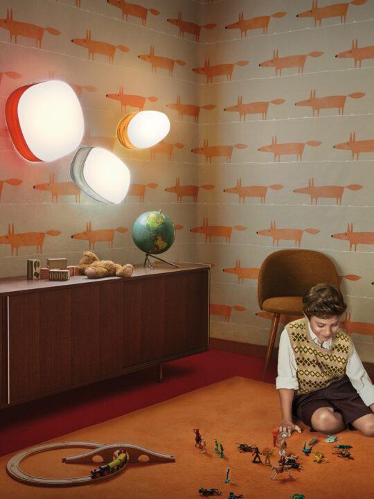 Guijarros LZF Lamps Holzleuchten für Wand oder Decke in 11 Farben DesignOrt Lampen