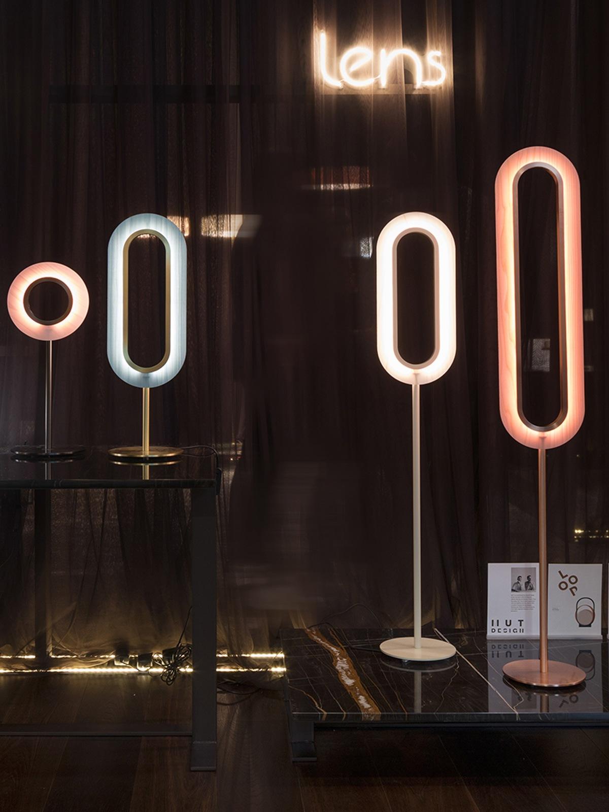 Lens Stehleuchten und Tischlampen von LZF Lamps DesignOrt Onlineshop Berlin