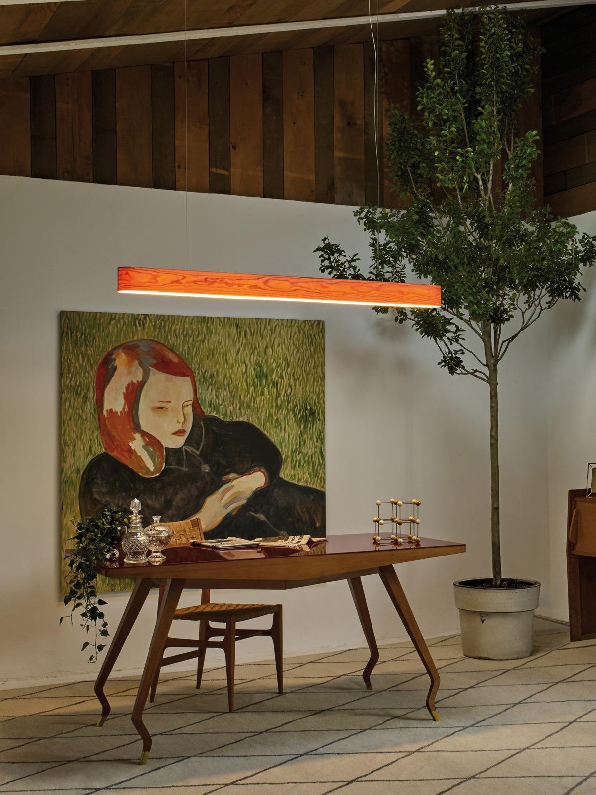 I Club lange Pendelleuchte LZF Lamps Holzlampen DesignOrt Berlin Onlineshop und Lampenladen