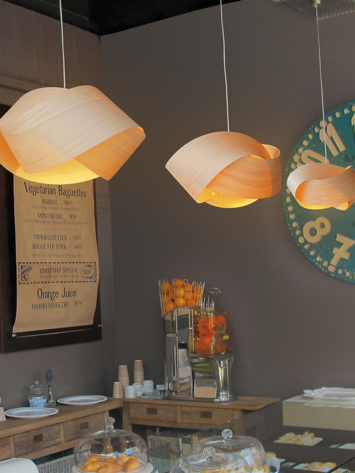 Nut Holzleuchte von LZF Lamps in 11 Farben DesignOrt Lampen Berlin
