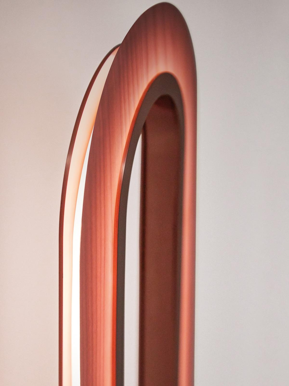 Wandleuchte Holz Lens Oval