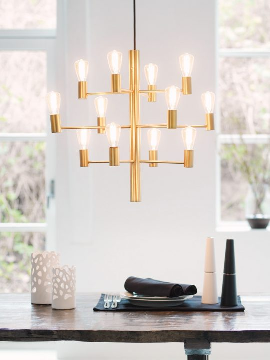 Herstal Manola 12 Kronleuchter skandinavisch Lampe Onlineshop DesignOrt Berlin