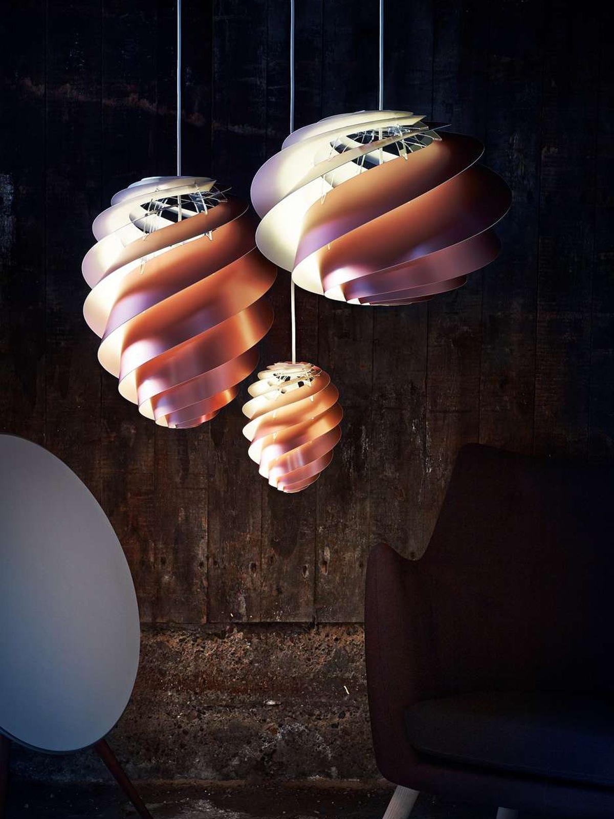 Swirl 1 2 Kupfer Le Klint Pendelleuchten DesignOrt Lampen Berlin
