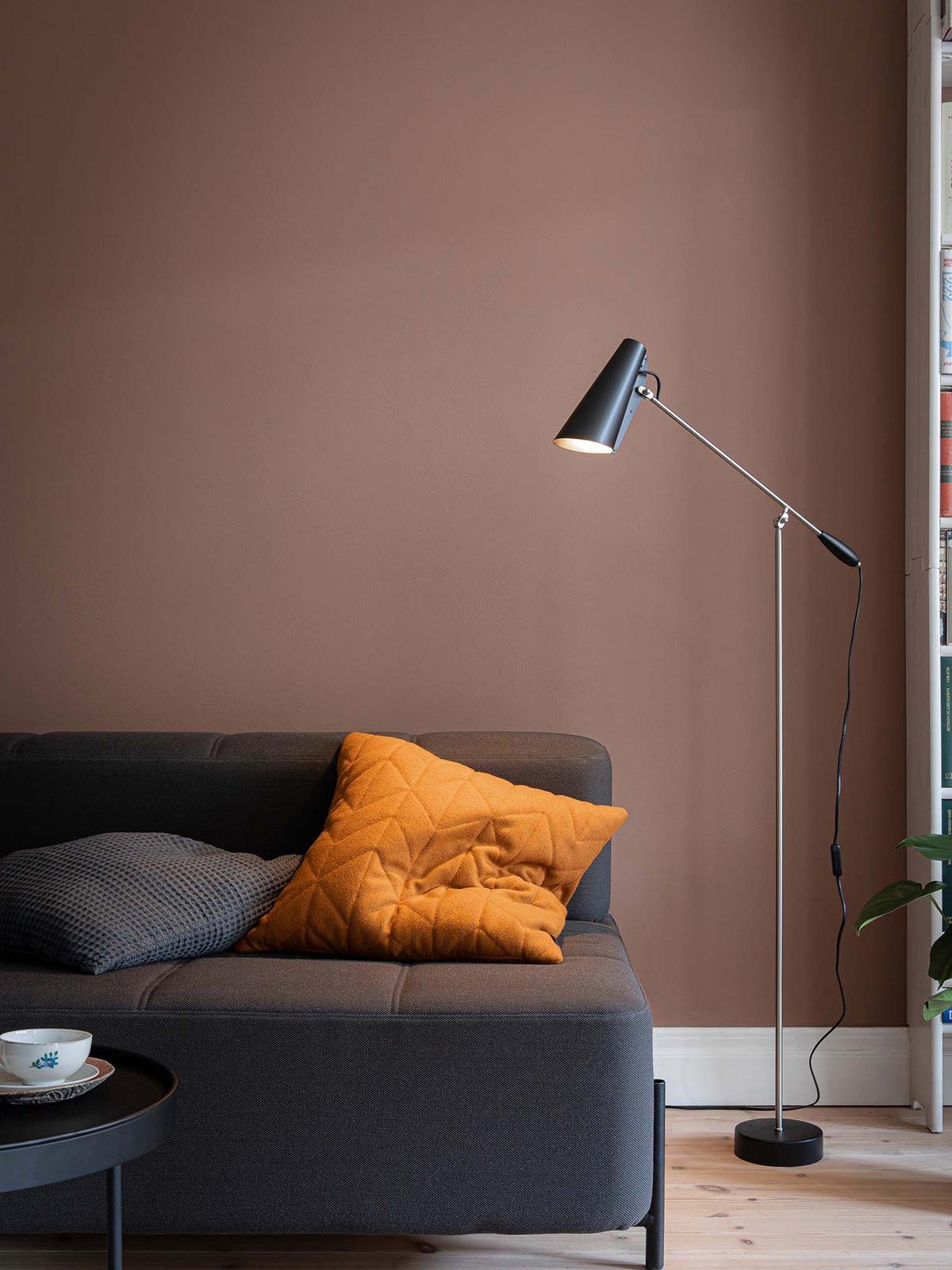 Birdy Floor in Schwarz und Stahl Northern Designort Leuchten Berlin Onlineshop