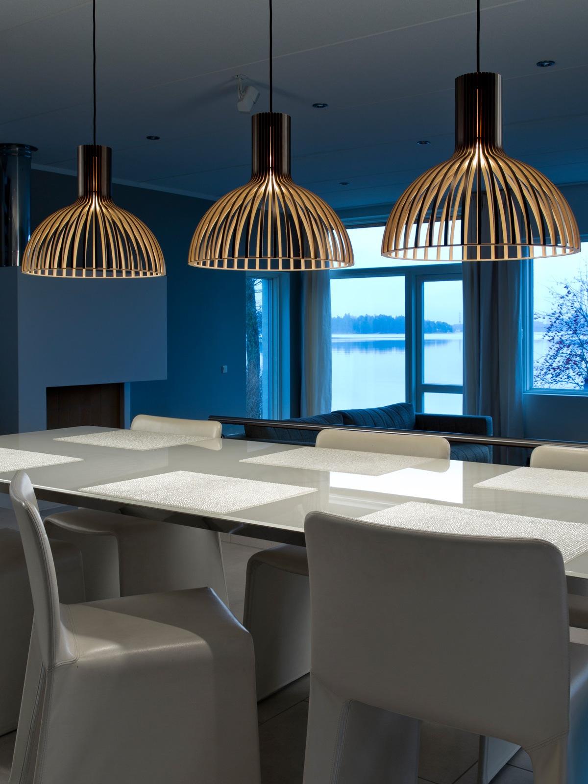 Lampen Blog: Trend: Pendelleuchten in Gruppen hängen Victo 4250 von Secto Design