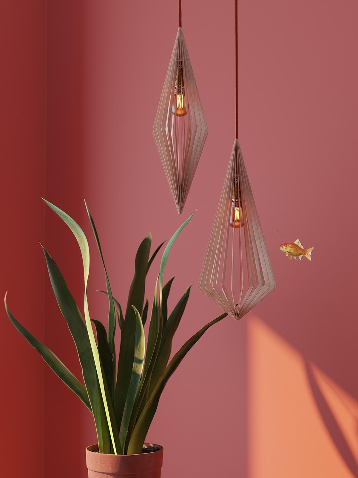 DesignOrt Blog: Nachhaltige Lampen & Leuchten - MAERU Maari & Diam Pendel Leuchte Holz Designort Lampen Leuchten Berlin