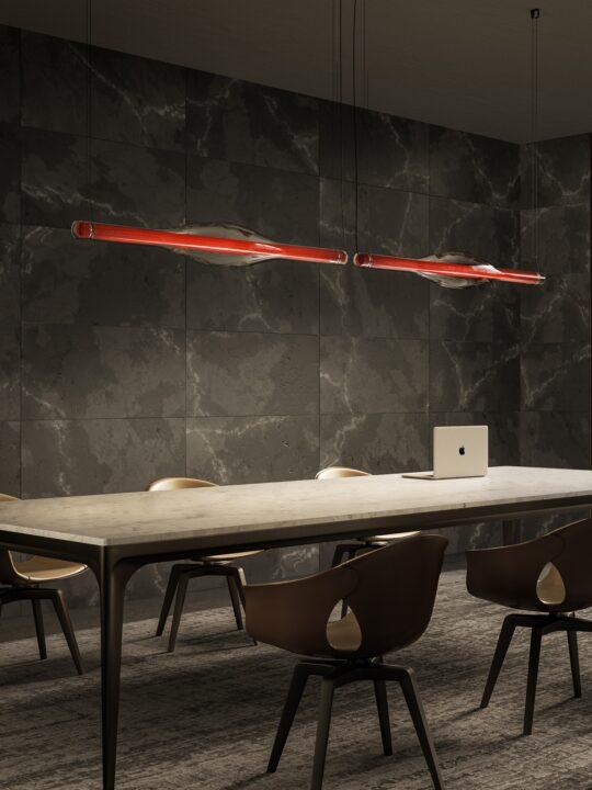 LZF Dune lange Pendelleuchte Holz und Glas DesignOrt Onlineshop Designerleuchten Berlin