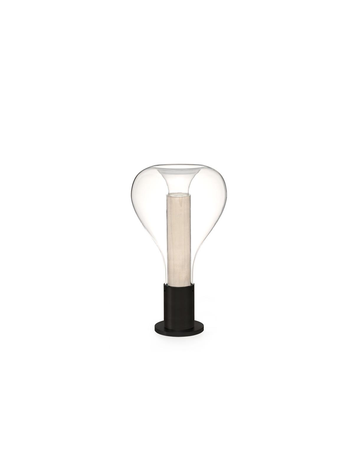 LZF Lamps Eris Tischleuchte Glas und Furnier Holz