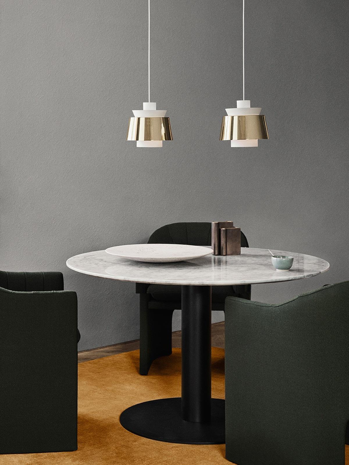 Utzon JU1 Brass and White &tradition Pendelleuchte DesignOrt Leuchten Berlin Onlineshop