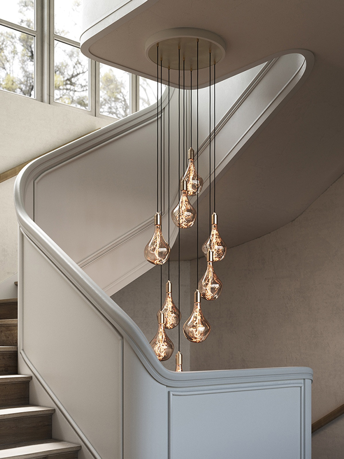 DesignOrt Blog: Exklusive Designerleuchten - Nine Pendant Large Canopy Tala Cluster neunflammige Pendelleuchte DesignOrt Lampen Onlineshop Berlin