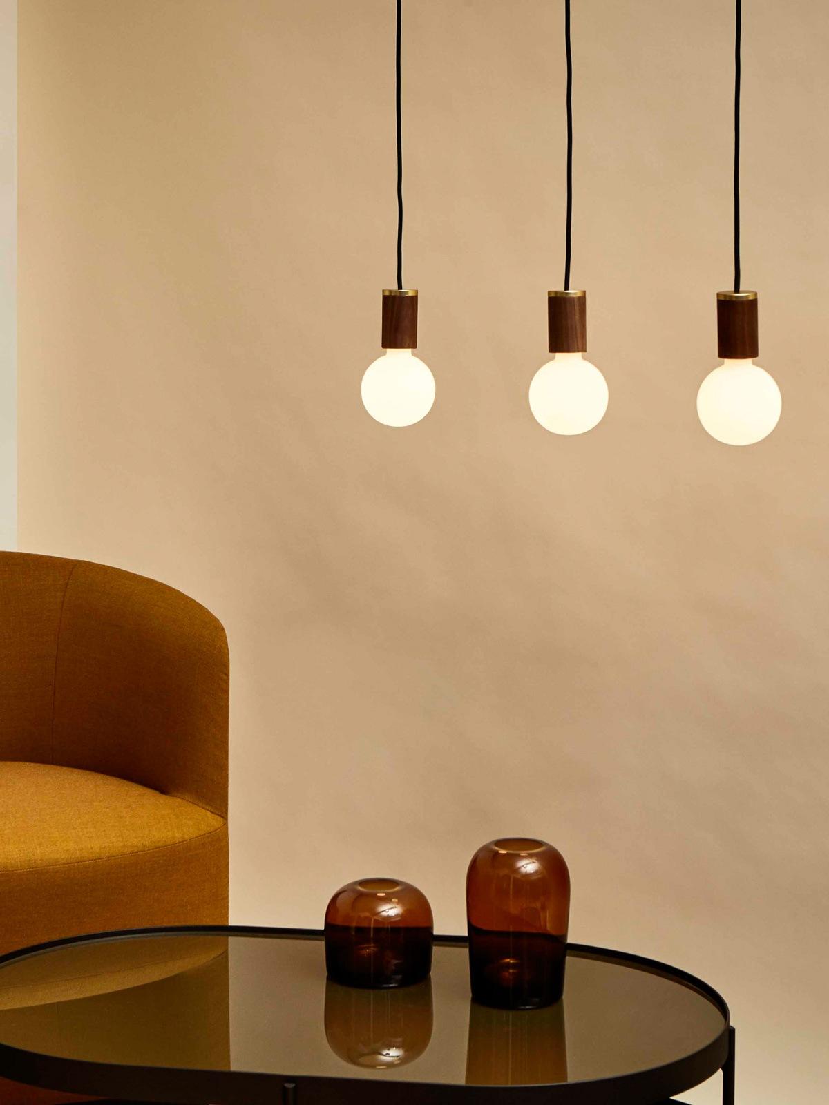 Tala Lampenhalter mit mundgeblasenem Leuchtmittel DesignOrt Lampen Berlin