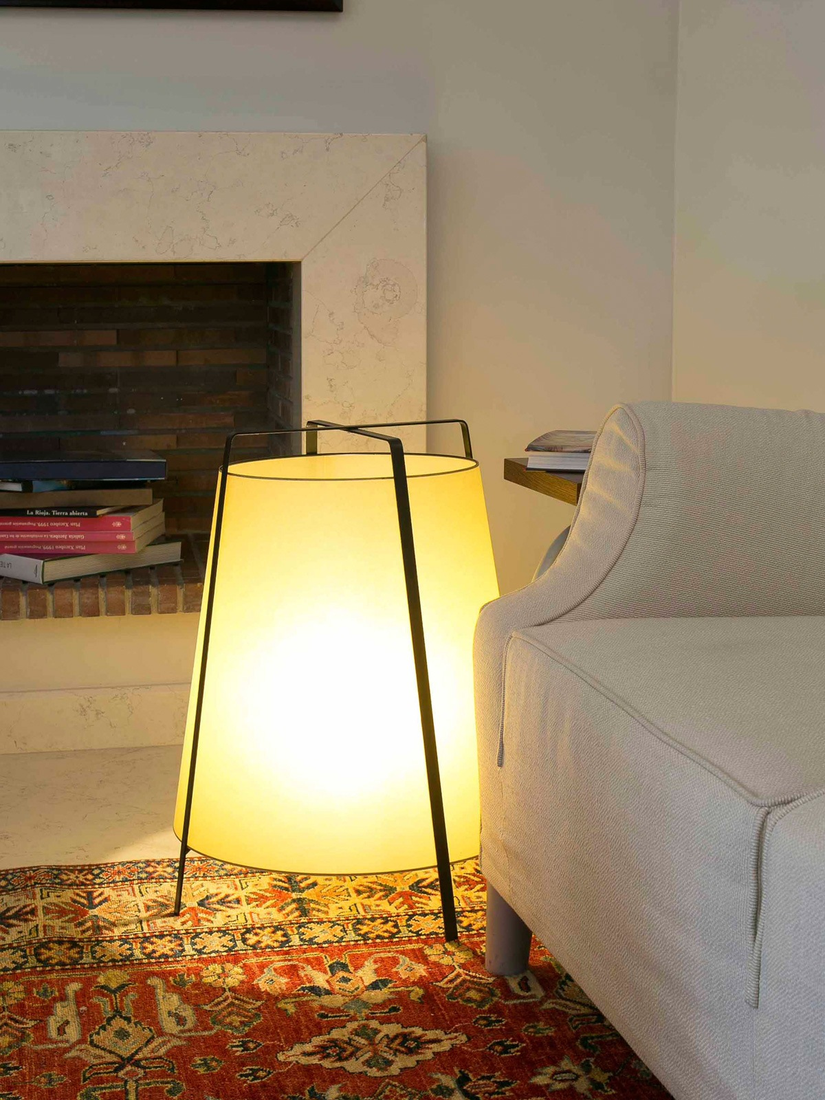 Faro Barcelona Akane Bodenleuchte aus Papyrus DesignOrt Lampen