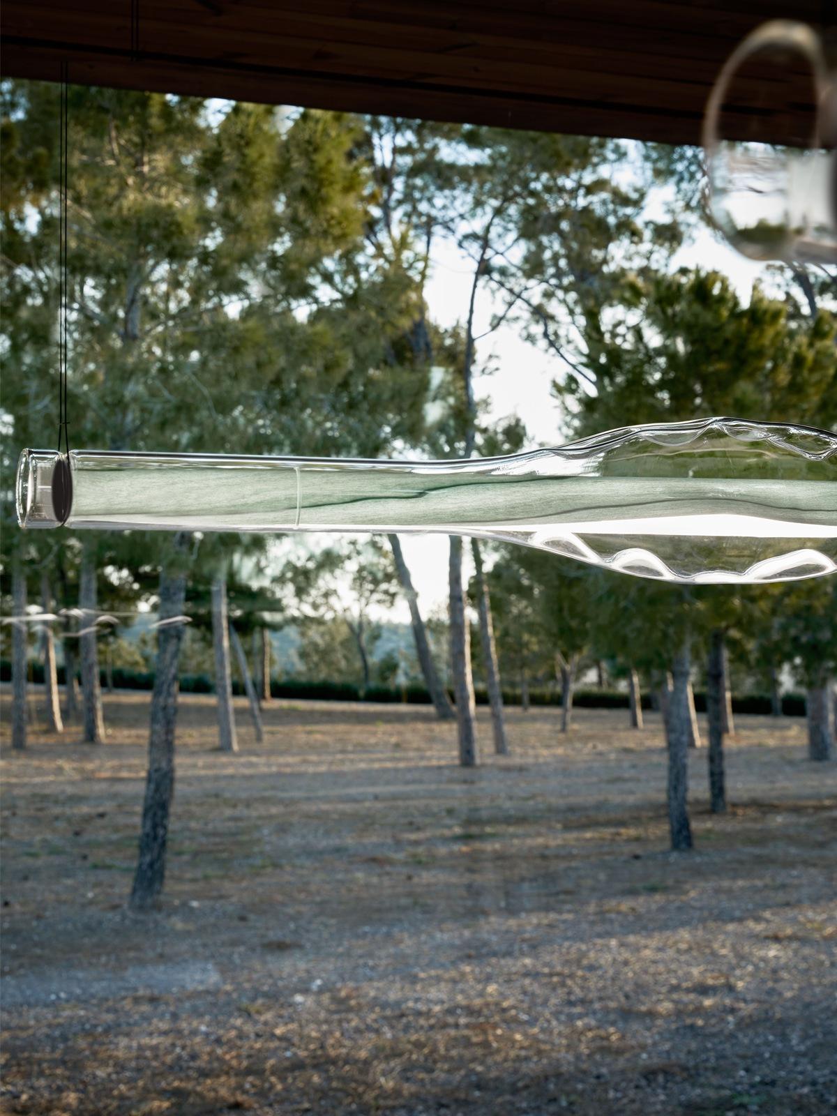 LZF Dune Detail Glas Furnierholz Leuchte Designort