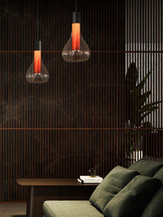 LZF Eris Leuchten mit Holz und Glas DesignOrt Lampenladen Berlin