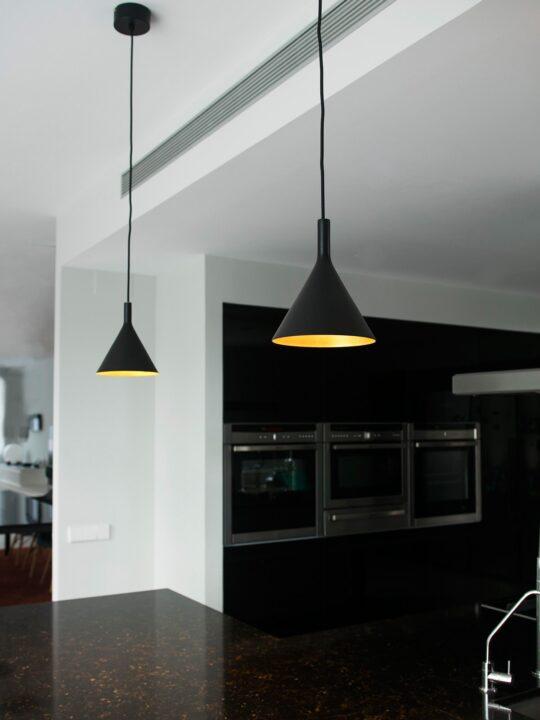 Faro Lampe Pam p Gold Schwarz Designort
