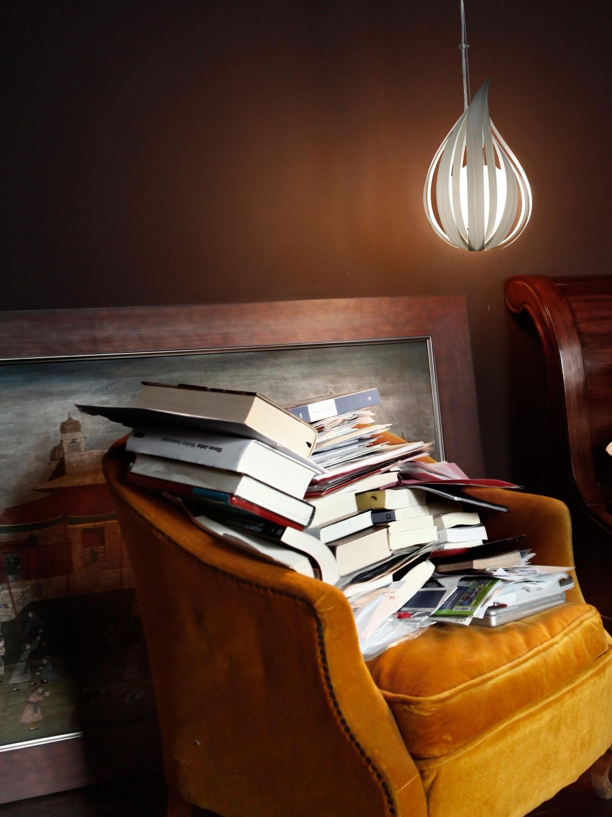 LZF Lampe in Tropfenform Raindrop Leuchte aus Holz und Glas DesignOrt Onlineshop