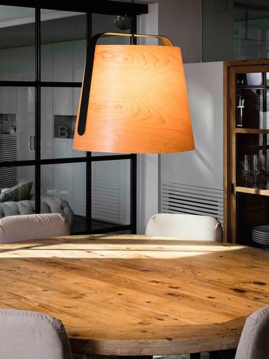 Faro Lampe Stoa aus Kirschholz DesignOrt Leuchten Berlin