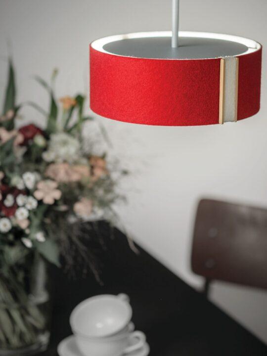 LARAfelt S Pendel Lampe aus Filz Domus Licht DesignOrt Leuchten Berlin