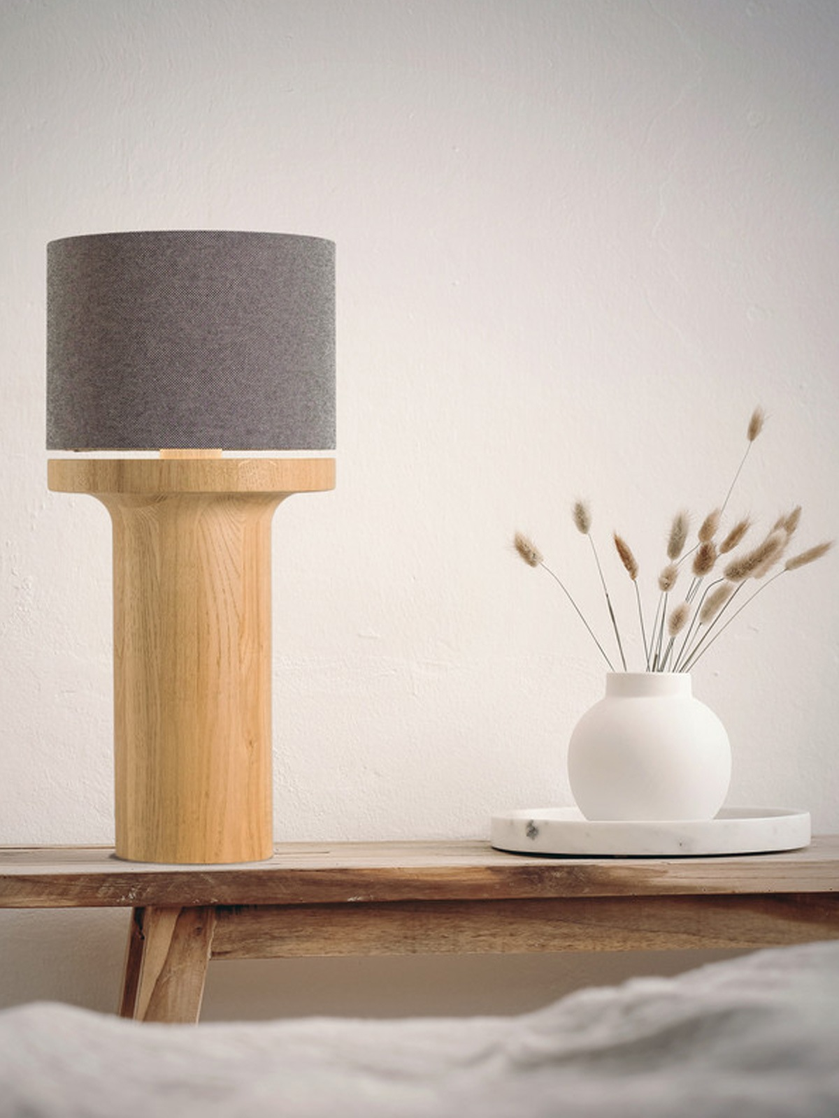 Tischlampen mit Textilschirm - Domus TINTIN Tisch Lampe DesignOrt Onlineshop Leuchten Berlin