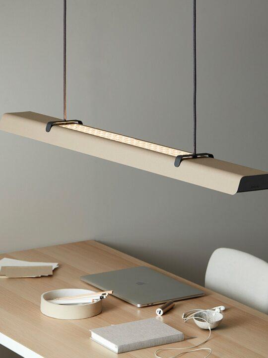 Belid Fold Office Pendant lang flach Pendelleuchte Schreibtisch skandinavisch dänisches Design
