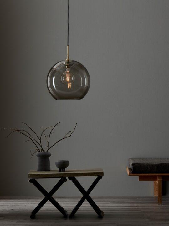 Glasleuchte Rauchglas Gloria Belid DesignOrt Onlineshop Leuchten Berlin