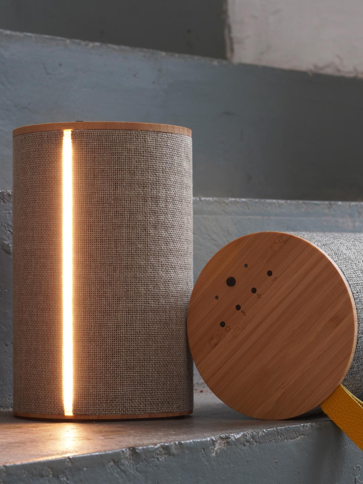 Tragbare Lautsprecher mit LED Beleuchtung Bluetooth Speaker LOOM Design DesignOrt Berlin