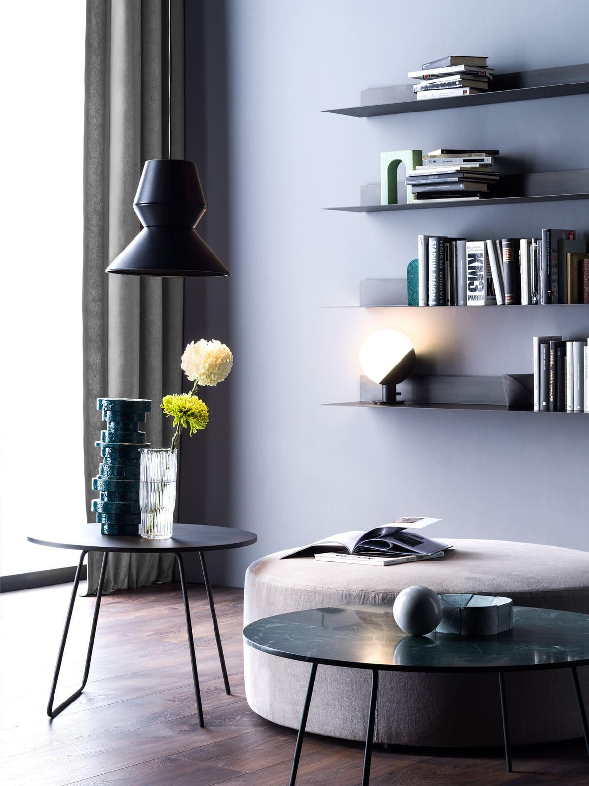 Ili ili Pendelleuchte und Baluna Table / Wall Grupa Leuchte mundgeblasenes Glas DesignOrt