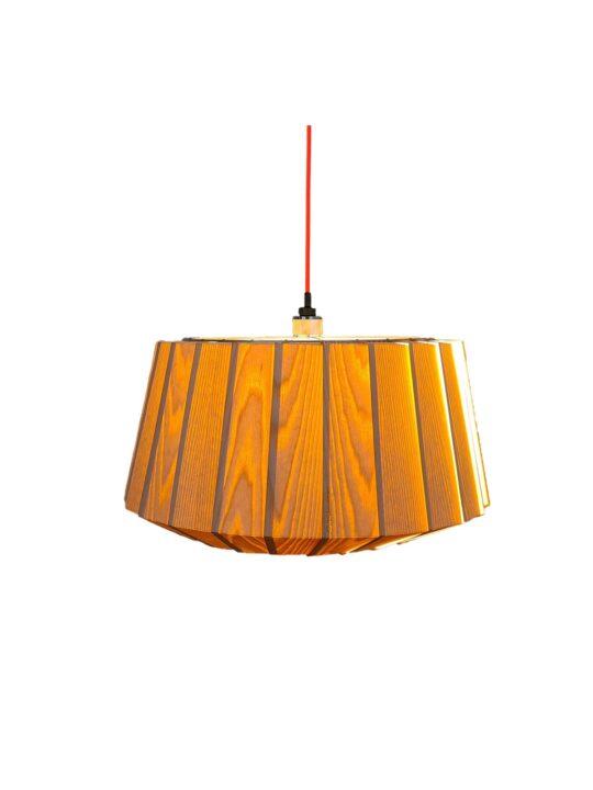 LAMmin Esche mit Licht Holzleuchte OYNEE