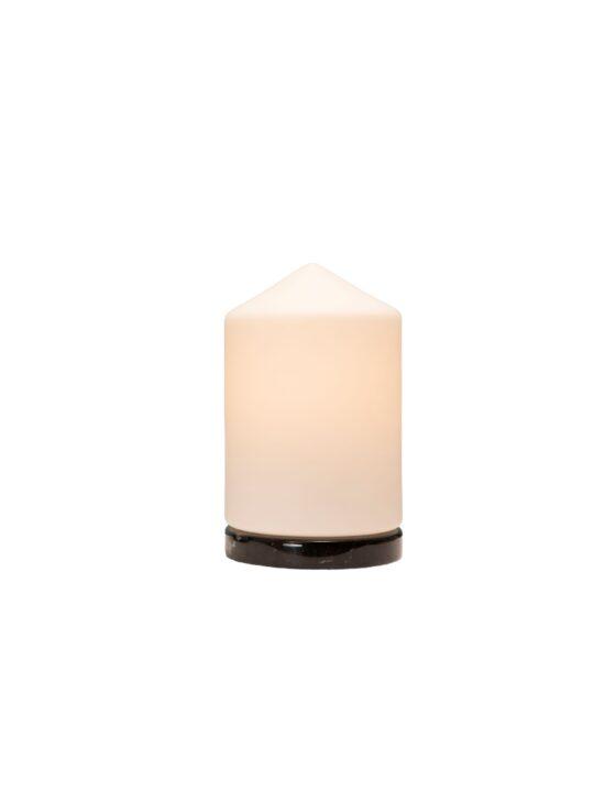 Formagenda Bullet Table Tischleuchte mit weißem Glas DesignOrt Lampen Onlineshop