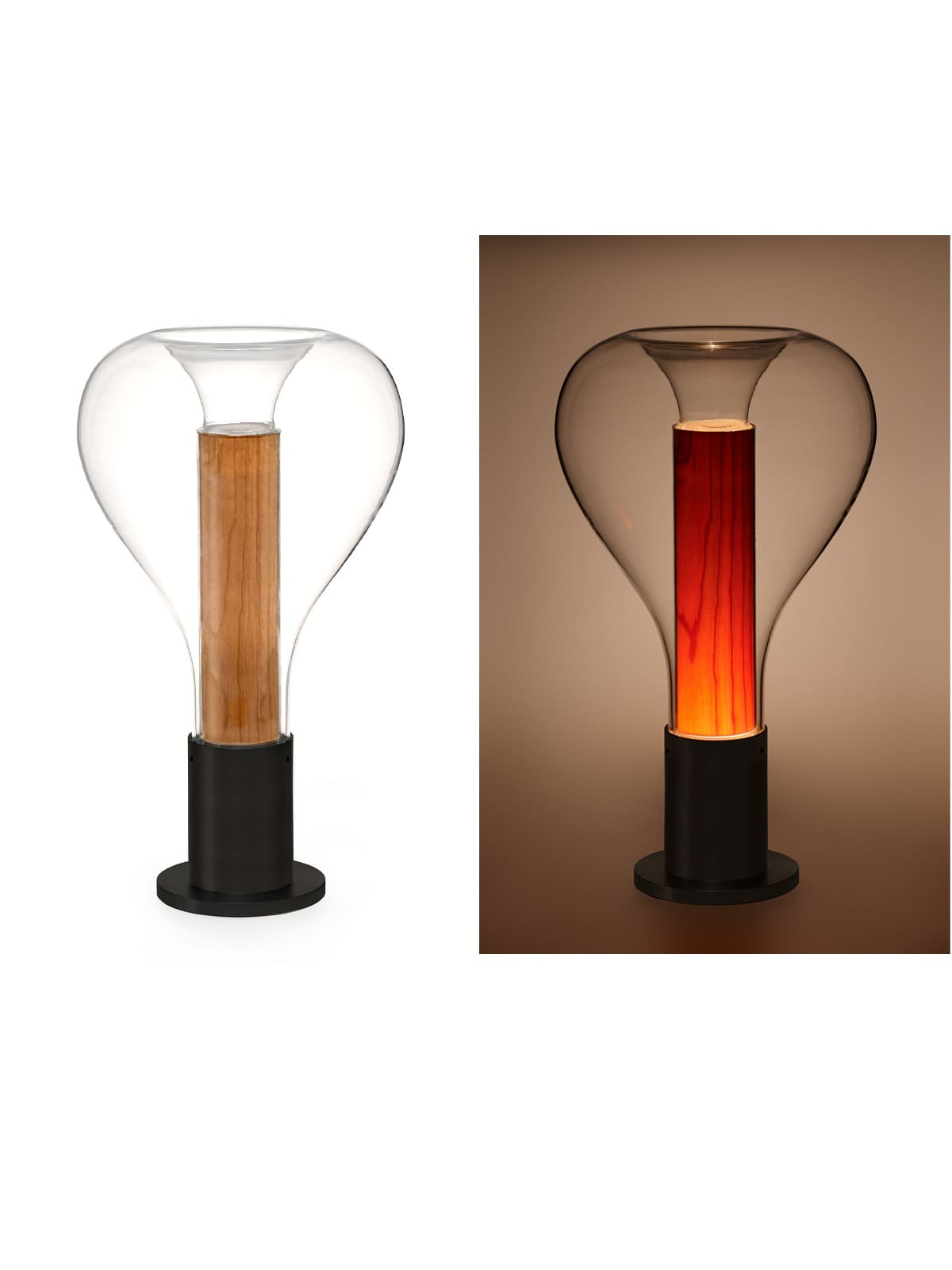 Eris 21 Kirsche Holz Lampe LZF